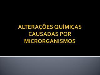 alterações qumicas causadas por microrganismos.ppt