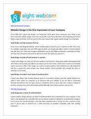 Website Design is the first Impression of your Company.doc