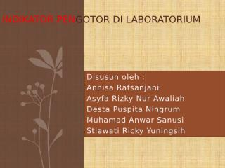 Indikator Pengotor di Laboratorium.pptx