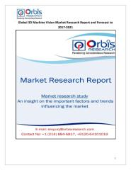 Global 3D Machine Vision Market Research Report and Forecast to 2017-2021.pdf