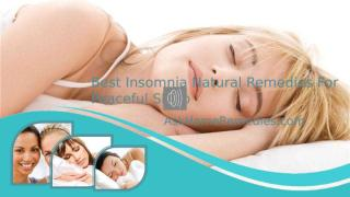 Best Insomnia Natural Remedies For Peaceful Sleep.pptx