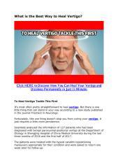 What is the Best Way to Heal Vertigo.pdf