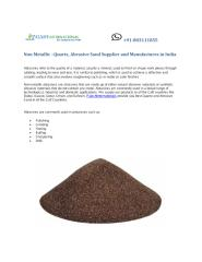 Non Metallic Mineral Manufactures in India1.pdf