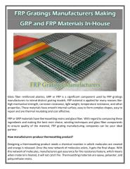 FRP Gratings Manufacturers Making GRP and FRP Materials In-House.pdf